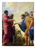 Cincinnatus Returning to His Plough Decorated with Laurel Wreath Giclee Print by Charles Francois Poerson