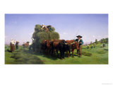 Haymaking, Auvergne Giclee Print by Rosa Bonheur
