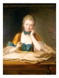 Madame De Chatelet-Lomont (1706-41) Premium Giclee Print by Maurice Quentin de La Tour