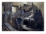 Ivan IV (1530-84) the Terrible Visited by the Ghosts of Those He Murdered Giclee Print by Michail Petrovic Klodt