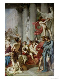 The Romans of the Decadence, Detail of the Right Hand Group, 1847 Giclee Print by Thomas Couture