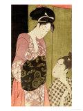A Man Painting a Woman Giclee Print by  Utamaro Kitagawa