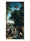 The Baptism of Christ, 1845-47 Giclee Print by Jean-Baptiste-Camille Corot