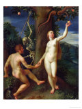 Adam and Eve Giclee Print by Hans Rottenhammer I