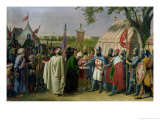 Count of Tripoli Accepting the Surrender of the City of Tyre in 1124, 1840 Giclee Print by Alexandre-Francois Caminade