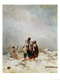The Retreat from Russia Giclee Print by Nicolas Toussaint Charlet