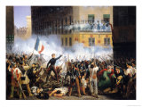 Battle in the Rue De Rohan, 28th July 1830, 1831 Giclee Print by Hippolyte Lecomte