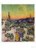 Moonlit Landscape, c.1889 Giclee Print by Vincent van Gogh