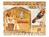 Nefertari Playing Senet, Detail of a Wall Painting from the Tomb of Queen Nefertari, New Kingdom Giclee Print