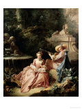 The Music Lesson, 1749 Giclee Print by Francois Boucher
