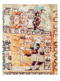 Detail from a Mayan Codex Giclée-Druck