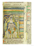 "Historiated Letter ""A"" of Generations in the Bosom of Abraham, from the Souvigny Bible Lámina giclée"