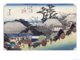 """The Teahouse at the Spring, Otsu, from """"Fifty-Three Stages of the Tokaido Road,"""" circa 1831-34 Giclee Print by Ando Hiroshige"""