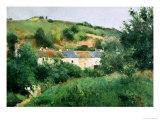 The Path in the Village, 1875 Reproduction giclée Premium par Camille Pissarro