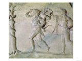 Tablet Depicting Hercules Carrying off the Delphic Tripod in Front of Apollo Giclee Print