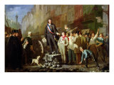 Baudin on the Barricade of Faubourg Saint-Antoine, 3rd December 1851 Giclee Print by Ernest Louis Pichio