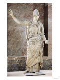 Pallas De Velletri, Statue of Helmeted Athena, Roman Copy of a Greek Original Reproduction procédé giclée