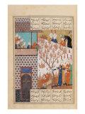 Khosro Before Shirins Palace, Illustration to Khosro and Shirin, 1176, by Elias Nezami (1140-1209) Giclee Print