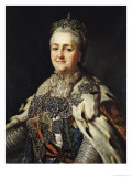 Portrait of Catherine II (1729-96) of Russia Giclee Print by Alexander Roslin