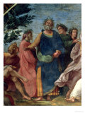 The Parnassus, Detail of Homer, Dante and Virgil, in the Stanze Della Segnatura, 1510-11 Impression giclée par  Raphael