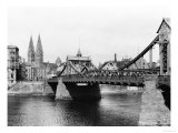 Weser Bridge, Bremen, circa 1910 Reproduction proc&#233;d&#233; gicl&#233;e par Jousset 