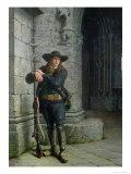 Armed Breton Guarding a Porch Giclee Print by Charles Loyeux
