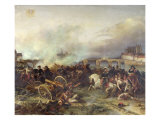 Battle of Montereau, 18th February 1814 Giclee Print by Jean Charles Langlois