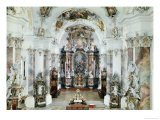 Interior of the Benedictine Abbey Church, 1711-31 Reproduction procédé giclée par J. M. Fischer