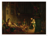 The Women of Algiers in Their Harem, 1847-49 Giclee Print by Eugene Delacroix