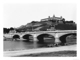 Festung Marienberg Fortress Seen from Ludwigs Bridge, Wuerzburg, circa 1910 Giclee Print by  Jousset
