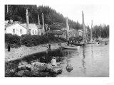Village in Alaska, circa 1900 Giclee Print