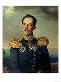 Portrait of Vice-Admiral Nikolai Rimsky-Korsakov (1793-1848) Giclee Print by Georg Botmann