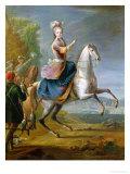Equestrian Portrait of Maria Leszczynska (1703-68) Giclee Print by Jean-Baptiste Martin