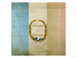 "Tricolore with the Motto ""Live Free or Die,"" 1792 (Painted Fabric) Giclée-Druck"