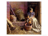 Plucking the Fowl Giclee Print by William Henry Hunt