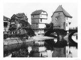 Nahe Bridge, Bad Kreuznach, circa 1910 Giclee Print by  Jousset