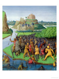 Battle Between the Maccabees and the Bacchides, Illustration from the French Translation Giclee Print by Jean Fouquet