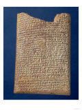 Portion of a Tablet Inscribed with the Legend of the Fight Between Marduk and Tiamat, BC Giclee Print