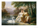 Chatelaines Giclee Print by Pierre Henri Revoil