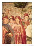 St. Augustine Departing for Milan, from the Cycle of the Life of St. Augustine, 1464-65 Giclee Print by Benozzo Gozzoli