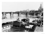 Augustus Bridge, Dresden, circa 1910 Reproduction proc&#233;d&#233; gicl&#233;e par Jousset 