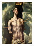 St. Sebastian, circa 1600-25 Giclee Print by El Greco