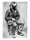 Arthur Rimbaud (1854-91) Slumped on a Chair and Dozing, in London, 1872 Giclee Print by Felix Elie Regamey