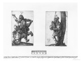 Dancing Peasants and a Bagpipe Player, 1514, Albrecht Durer, Giclee Print