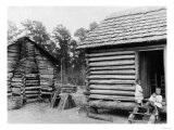Log Cabins in Thomasville, Florida, circa 1900 Giclee Print