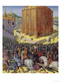 Siege of Jerusalem by Nebuchadnezzar, Illustration from the French Translation Premium Giclee Print by Jean Fouquet
