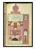 "Bahram (420-28) Visits the Princess of Rum, to ""The Seven Princesses,"" 1199, by Elias Nezami Giclee Print"