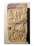 Funerary stela, from Yemen (alabaster) Giclee Print