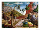 The Agony in the Garden, Left Hand Predella Panel from the Altarpiece of St. Zeno of Verona 1456-60 Giclee Print by Andrea Mantegna