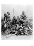Warriors, Belgian Congo, 1894 Giclee Print